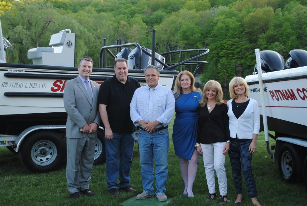 Legislators with boats