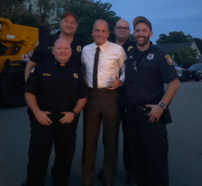 Officers with Harrelson