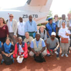 Aid flight and colleagues