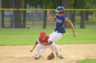 Jack Antalek cruises into second against the Red Hawks.