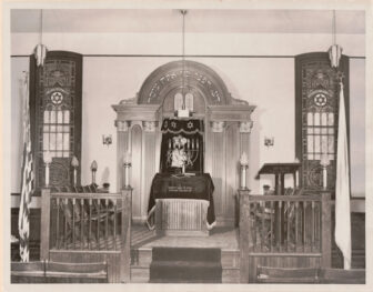 The interior of the Beacon Hebrew Alliance synagogue