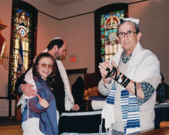 Hannah Zollner's parents (left) at her naming ceremony