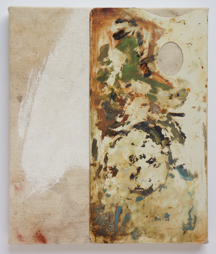 Loxton_Untitled (with R.D.), 2021, oil, acrylic, dry pigment and adhesive on canvas 12 x 10 copy