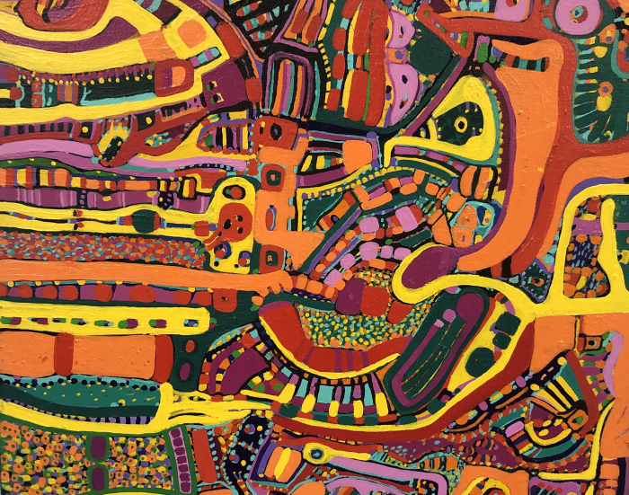 Detail from a painting by Louise Abrams