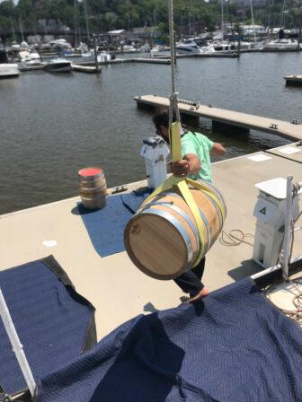 Unloading a malt delivery