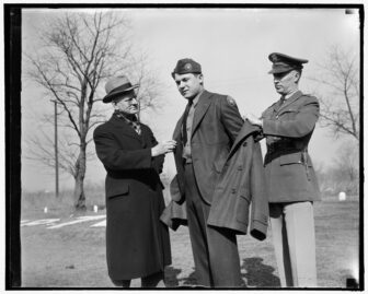 trying on new CCC uniform 1939