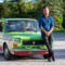 Cristian Chironi on Long Island with his Fiat