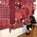 Patricia Miranda at work in her studio.